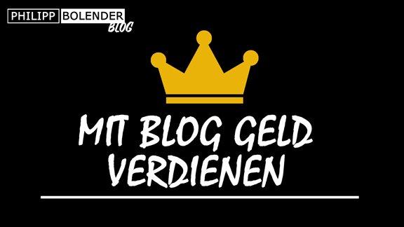 Mit Blog Geld verdienen